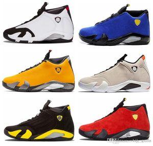 14 di pallacanestro del Mens Scarpe Nero Blu 14s yellow Sport Sneaker Scarpe da ginnastica Zapatillas des Chaussures Designer Jumpman Zapatos