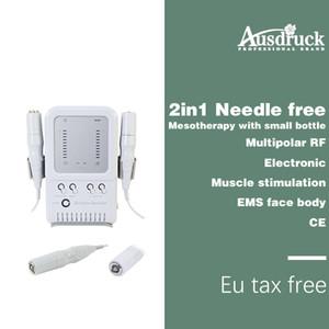 Eu tax free جديد 2in1 متعدد الأقطاب rf لا إبرة ميزوثيرابي الوجه تجديد الجلد العناية تشديد آلة ce