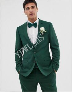 Handsome Two Buttons Groomsmen Notch Lapel Groom Tuxedos Men Suits Wedding Prom Dinner Best Man Blazer(Jacket+Pants+Tie+Vest) W219