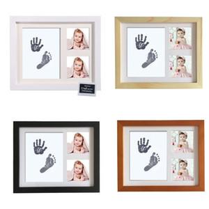 Рамка для младенцев Footprint Kit Handprint Изображение с сейф и нетоксичные чернила Pad Идеальный Новорожденные Keepsakes Девочки Мальчики душ подарок