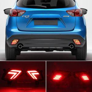 2PCS LED 리플렉터를 들어 마즈다 CX5 CX5 2014 2015 2016 2013 자동차 테일 라이트 후면 범퍼 라이트 후면 안개 램프 브레이크 라이트