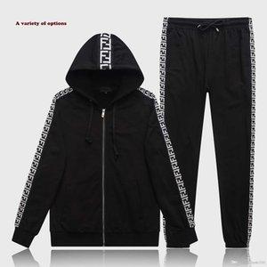 Fall 2020 hip-hop men's tracksuit men's sweatshirt 2 pieces track suit jogger monogrammed hoodie + track pants track suit 3XL