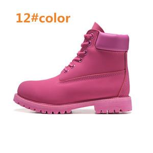 남성 여성 방수 야외 부츠 캐주얼 마틴 부츠 하이킹 스포츠 신발 브랜드 커플 정품 가죽 따뜻한 눈 부츠 하이 컷 겨울