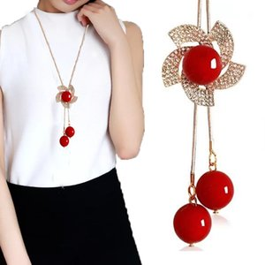 2019 Korean Style Autumn and Winter Crystal Necklace Female Snowflake Sweater Chain Long All-match Tassel Pearl Jewelry Accessories Pendant