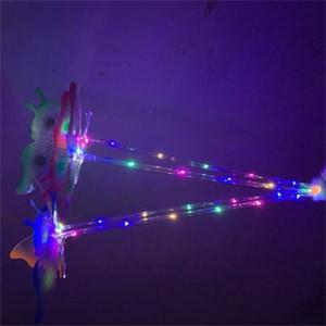 Lampeggiante Light Stick LED luminoso di plastica farfalla bastoni del fumetto delle ragazze dei ragazzi Wand regalo Giocattoli Festival venduto bene 3 9hc H1
