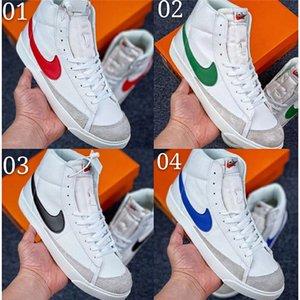 Nike SB Zoom Blazer Mid 77 Edge-Damenschuhe Mensentwerfer Blazer Hack-Pack weiß midnight navy femmes zapatos size36-45