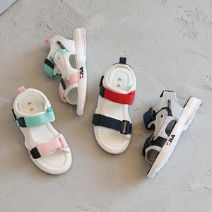 Designer Kids Shoes Child Sandals High Top Quality Baby Girl Boy Sneakers Leather Sandals Toddler Beach Shoes For Children A23