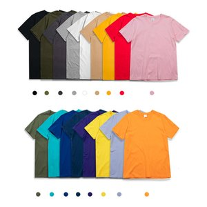 Multicolor Casual Short Sleeves T Shirts Mens Hip Hop Clothing Crew Neck Tees Designer Streetwear Summer Solid Color