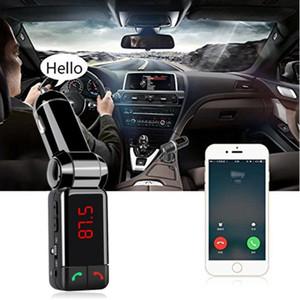 1PCS Bluetooth Car Kit BC06 veicolare senza fili del caricatore del MP3 Trasmettitore FM BT vivavoce doppia porta USB del caricatore per il telefono di Moblie