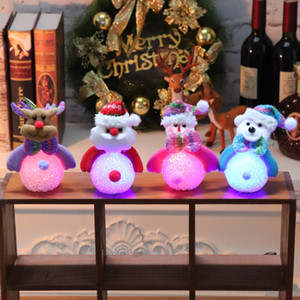 Weihnachtsdekoration LED-Licht EVA Schneemann-Nachtlicht-Glühen hängender Weihnachtsmann Dekoration Weihnachtsgeschenk Weihnachtsbaum Ornament DBC VT0768