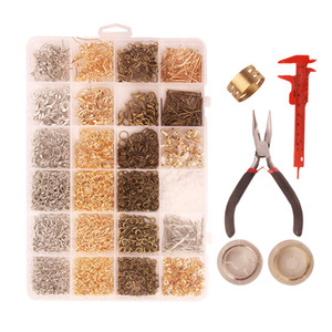 Phenovo 3000 Pcs Bulk Gold Silver Bronze Tone Jewelry Findings Making Kit Beading Making Supplies and Jewelry Repair Tools