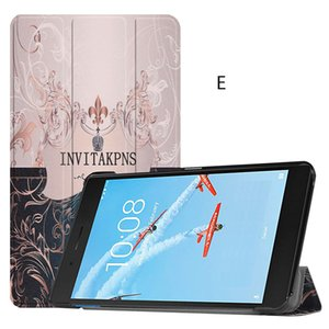 20PCS Fashion Colorful Printing PU Leather Case Flip Cover for Lenovo Tab E7 TB-7104F 7 inch 2018 Tablet+Pen