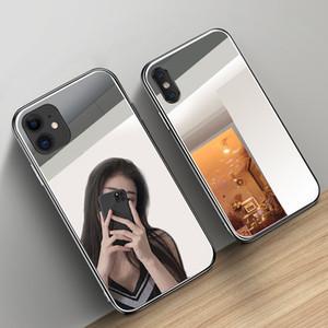 Роскошный зеркало для макияжа Чехол для телефона iPhone 11 Pro XS Max X XR Hard Закаленное стекло Задняя крышка для Iphone 8 7 6 6S Plus Капа Coque