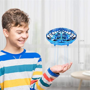 Hot UFO Gesture Induction Suspension Aircraft Smart Flying Saucer With LED Lights Creative Toy Entertainment New Year Christmas Gift