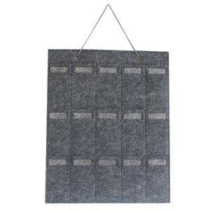 Moda Sunglass Hanging sacos de armazenamento com 15 Slots Lightweight Felt Colar Brinco de jóias titular Household gancho da parede Em armazém 10lx E19
