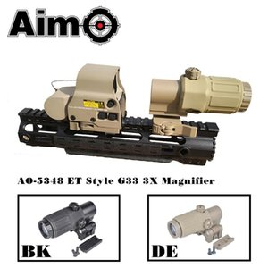 Aim-O Tactical Telescope Red Dot Âmbito G33 3X Magnifier Holographic vista com interruptor para Side rápida destacável Riflescope