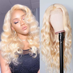 Brazilian Blonde Body Wave Human Hair wigs 613 Color Full Lace Wig With Baby Hair Free Shipping Glueless Lace Front Wigs