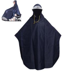 Escudo para mujer para hombre bicicleta de la bici lluvia del impermeable del poncho del cabo encapuchado a prueba de viento lluvia Scooter cubierta con capucha abrigo impermeable Y200324