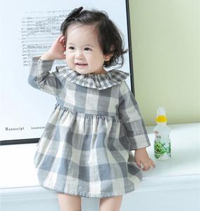 INS Çocuk Bebek Kız Giydirme Casual Ekose Noel Elbise Yeni İlkbahar Sonbahar Bebek Kız Giyim vestidos Çocuk Tutu Princes Elbise