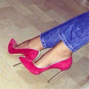 Hanbaidi High Heels Pumps Classical Pointed Toe Slip On Waterproof Street Style Celebrity Outdoor Women Shoes