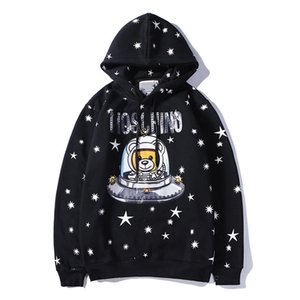 Cute Universe Bear Couple Hoodie Fleece Thickening Men And Women New Hoodies Autumn And Winter Fashion Hoodies