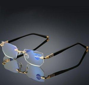 Reading Glasses Anti Blue Light Portable Rimless Readers Unisex-Adult