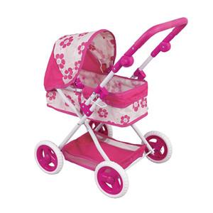Kidlove Kinderwagen Simulation Spielen Spielzeug-Mädchen-Kind-Kind-Baby-Puppe-Spaziergänger Pram Kinderwagen Pretend