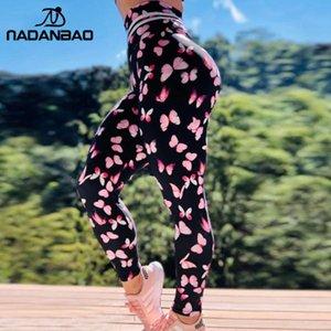 Nadanbao frauen leggings 3d druck von schmetterling jogging leggings hohe taille elastische sexy weibliche hosen
