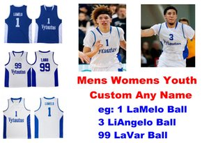 Lithuania Prienu Vytautas Jersaeys Mens 1 LaMelo Ball Jersey 3 LiAngelo Ball 99 LaVar Ball Basketball Jerseys Customize Stitched