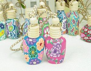 Yeni Polimer kil özü yağı Parfüm şişesi boş şişe 15 ml Araba dekorasyon DHL FEDEX asmak