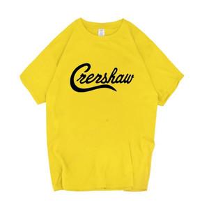 Nipsey Hussle Креншоу Mens Tshirts Summer Сыпучие Solid Color Letter Printed Tops подросток моды короткий рукав тройники