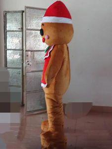 2019 Rabatt Fabrikverkauf ein Gingerbread Man Maskottchen Kostüm für Erwachsene zum Verkauf