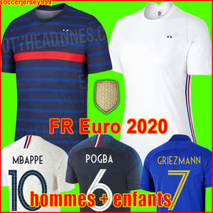 France soccer jersey Euro 2020 2021 football shirt França camisa de futebol 100º aniversário de 100 anos Futebol da equipe da Copa do Mundo Griezmann Mbappé Kit homens + crianças