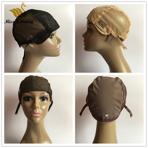 Lace Wig Cap for Making Wigs Full Lace Front Lace Hand Made Hair Wigs Black Blonde Brown Wig Caps with Clips Adjustable Straps