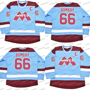 66 Mighty Ducks Gordon Bombay Movie Hockey Jersey 100% Embroidery Mens Womens Youth Hockey Jerseys Cheap Fast Shipping