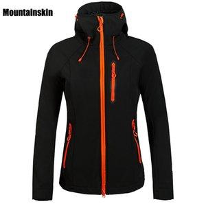 Su geçirmez Coat Yürüyüş Kayak Yürüyüş Kamp Kadın Windbreakers VB027 Açık Mountainskin Kadınlar Kış Polar Softshell Ceket