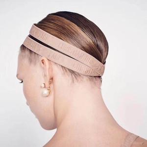 Yeni Çıplak Mektup Elastik Bandı Kadın Elastik Çift Hairband Geçiş Eğik Askı Etiketi Ve Filigran Ile 3 Renkler