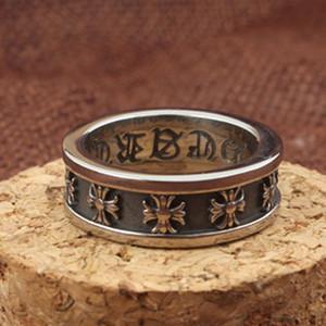 Aleación de la moda retro anillo de la cruz mujeres de los hombres de tendencia punk Hip Hop joyería del anillo