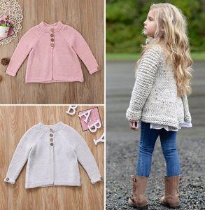Niedlichen Kleinkind Kinder Baby Mädchen Mantel Pullover Strickwaren Mantel Kleidung Outfit