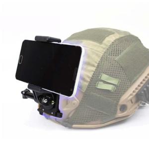 Tático Front Side Capacete Acessórios Set câmera Buckle Suporte Base de Montagem para o telefone GoPro Go Pro Kits