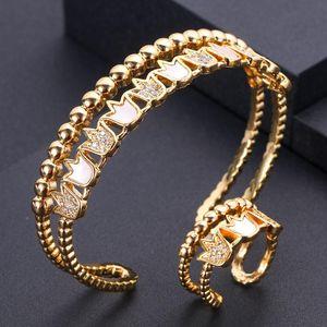 janekelly einzigartige afrikanische Armband-Armband-Ring-Sätze für Frauen Hochzeit KubikZircon Kristall CZ Dubai Brautschmuck Sets