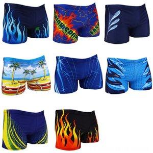 equipamiento de baño Hombre boxeador troncos cortos pantalones de spandex Breves Fire Beach Water Sports Burning Plaza Pierna 3512L