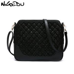 NIGEDU кружево женщин Сумки дизайна женских сумок посыльных большая емкость ромб Женской сумочка болс