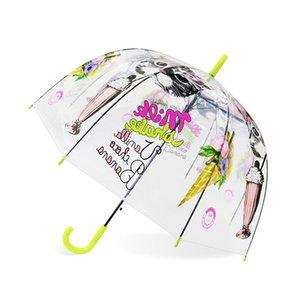 SAFEBET Enfants Crème Glacée Licorne Transparent Parapluies Mignon Dessin Animé Enfants Parapluie Apollo Semi Automatique Parapluies