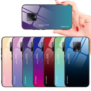 Colorido Gradiente vidro temperado capa para Xiaomi redmi 10X 5G Nota 10 Lite redmi 9 9S Nota Nota 8 Redmi8 7 6 Pro