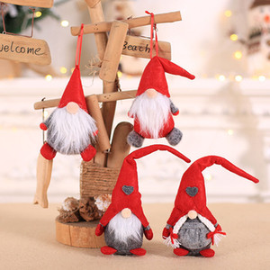 Hot Sale Christmas Doll Ornaments Plush Tomte Doll Decoration Home Wedding Xmas Party Decor for Kid Red Xmas Tree Ornament HH9-2511