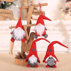 Venda quente de Natal Decor Xmas Party boneca Ornamentos Plush Tomte Doll Decoration Início de casamento por Kid Red Xmas Tree Ornament HH9-2511