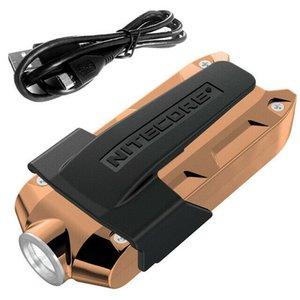 NITECORE TIP CU LED Flashlight Tasto a chiave in metallo Colore oro chiaro
