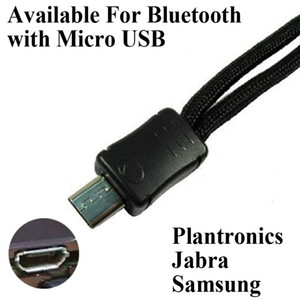 Micro USB Plantronics Pour Longe D975 PRO M1100 pleine longueur casque Support 40cm avec micro USB Jack comme Jabra Samsung Oreillette Bluetooth