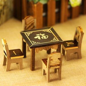 Il trasporto libero di vendita diretta in fabbrica mini tavolini e sedie per bambini della casa del gioco giocattoli mobili in legno Otto Immortali Tabella del fumetto